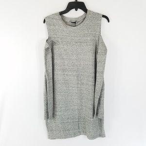 NWT Zara Gray Cold Shoulder Dress